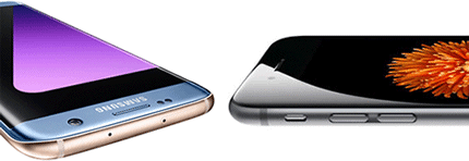Ecran Galaxy S7 vs dalle iPhone 6s